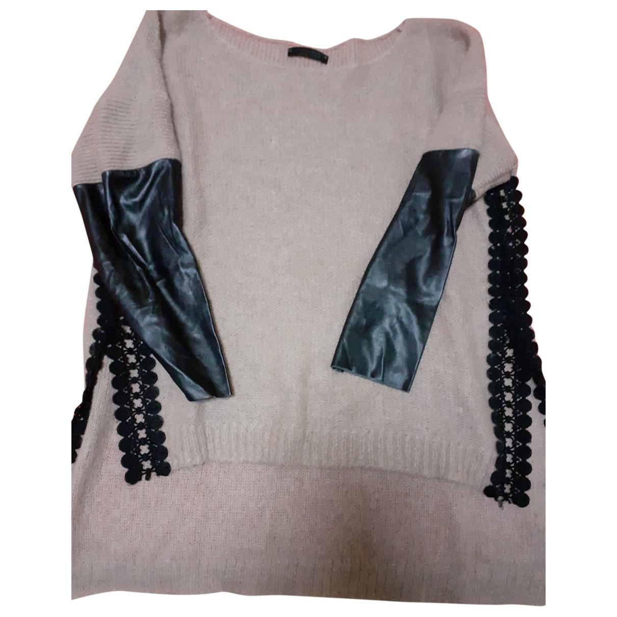 Pinko \N Ecru Leather Knitwear for Women One Size FR