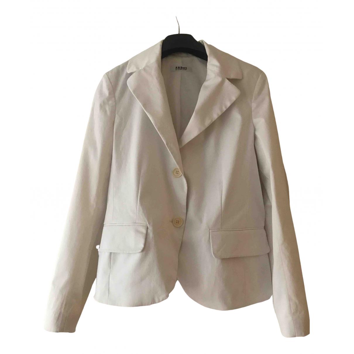 Nicole Farhi \N White Cotton jacket for Women 10 UK