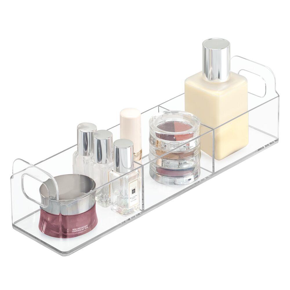 Plastic Bathroom Cabinet Drawer Organizer - 12 x 3 x 3, by mDesign