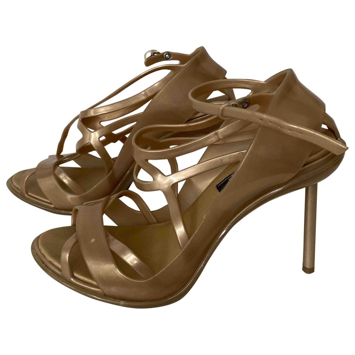 Melissa \N Beige Rubber Sandals for Women 41 EU