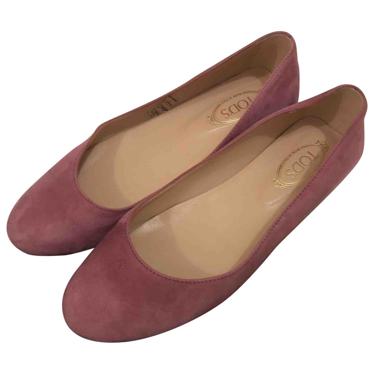 Tod's \N Purple Suede Ballet flats for Women 36 EU