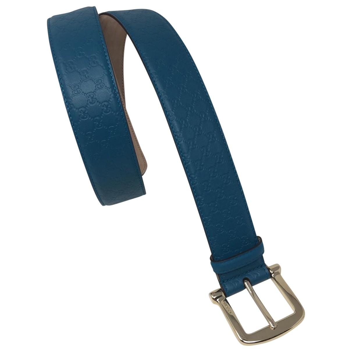 Gucci \N Blue Leather belt for Men 90 cm