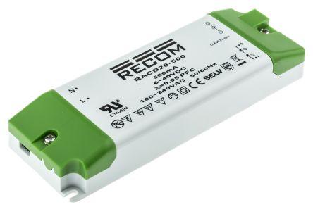 Recom RACD20 AC-DC Constant Current LED Driver 20W 6 → 40V dc