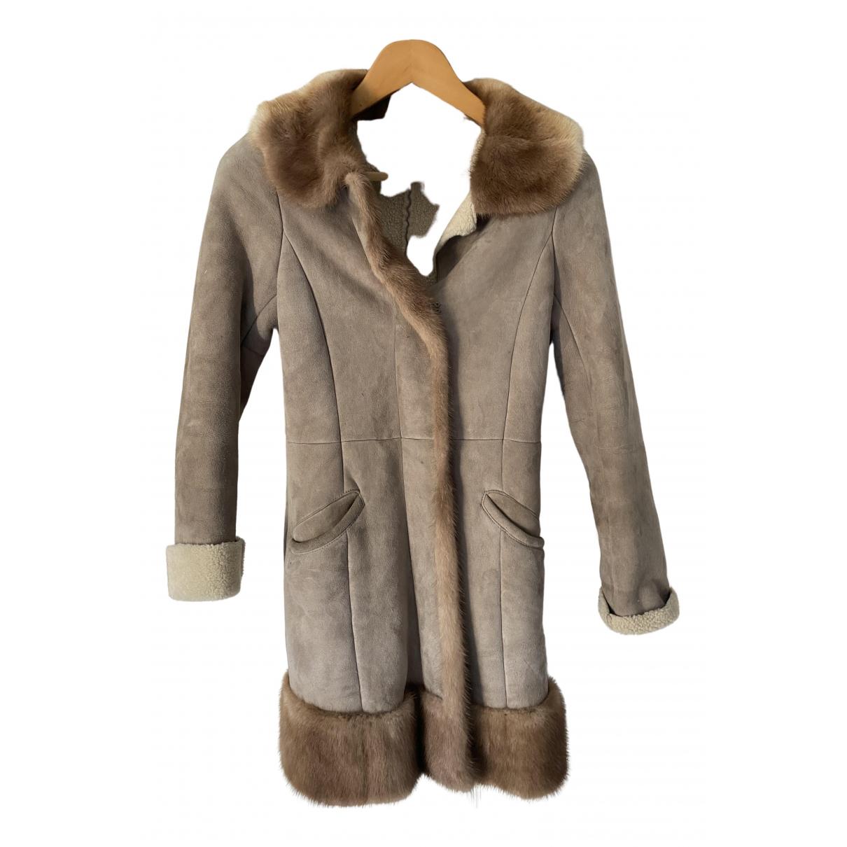 Prada \N Beige Mink coat for Women 40 IT