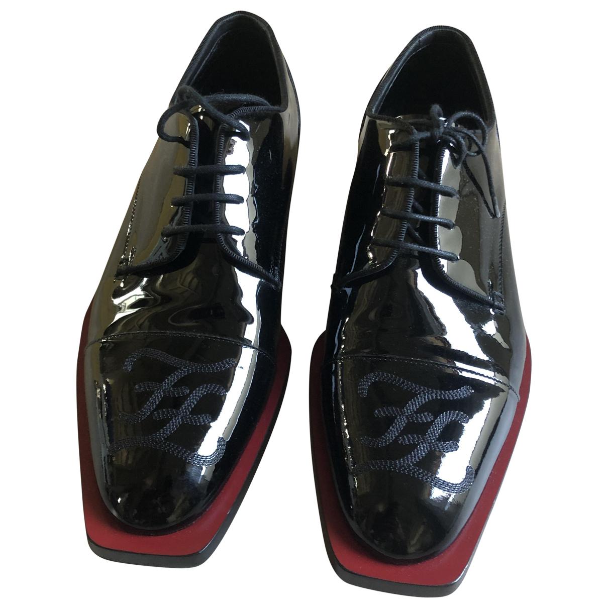 Fendi \N Black Patent leather Lace ups for Men 43 EU