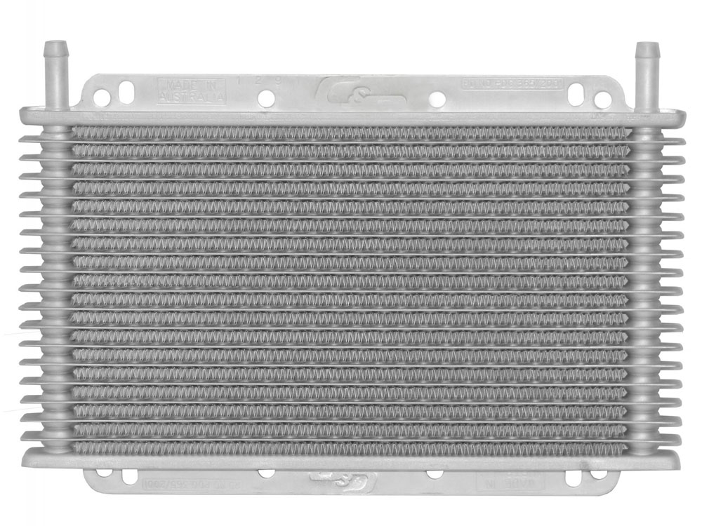 Trans Oil Cooler 11 in ( 280mm) x 6 in (150mm) x 3/4 in (19mm) -6 AN Male Fittings