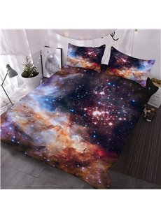 Galaxy and Galactic Nebula 3D Printed 3-Piece Comforter Sets