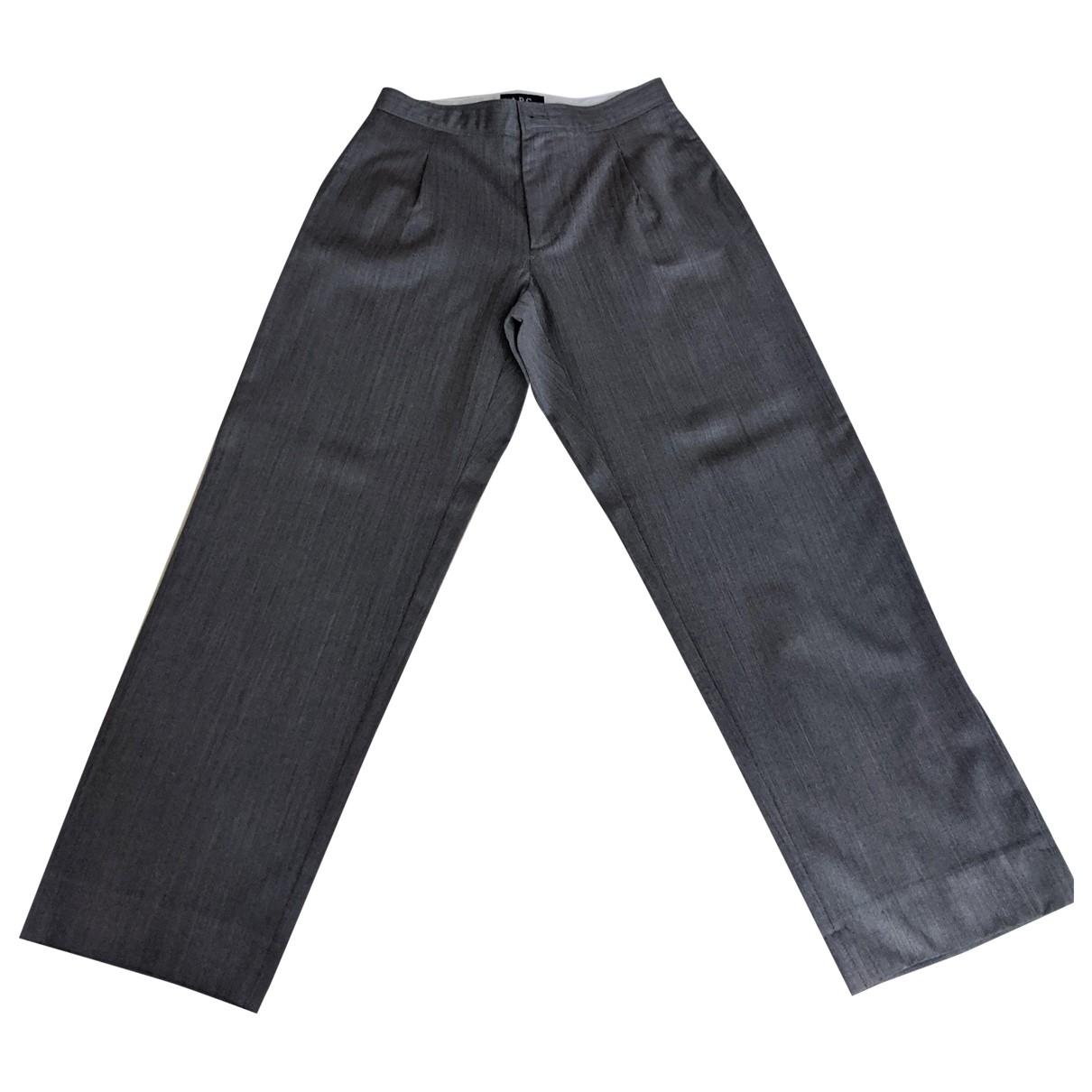 Apc \N Grey Wool Trousers for Women 34 FR