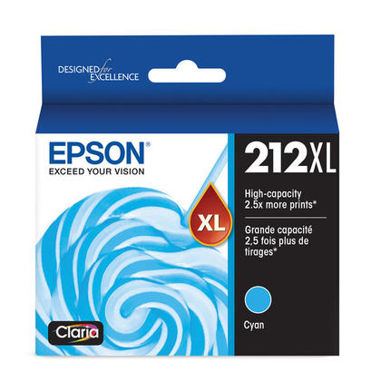 Epson 212XL T212XL220 Original Cyan Ink Cartridge High Yield