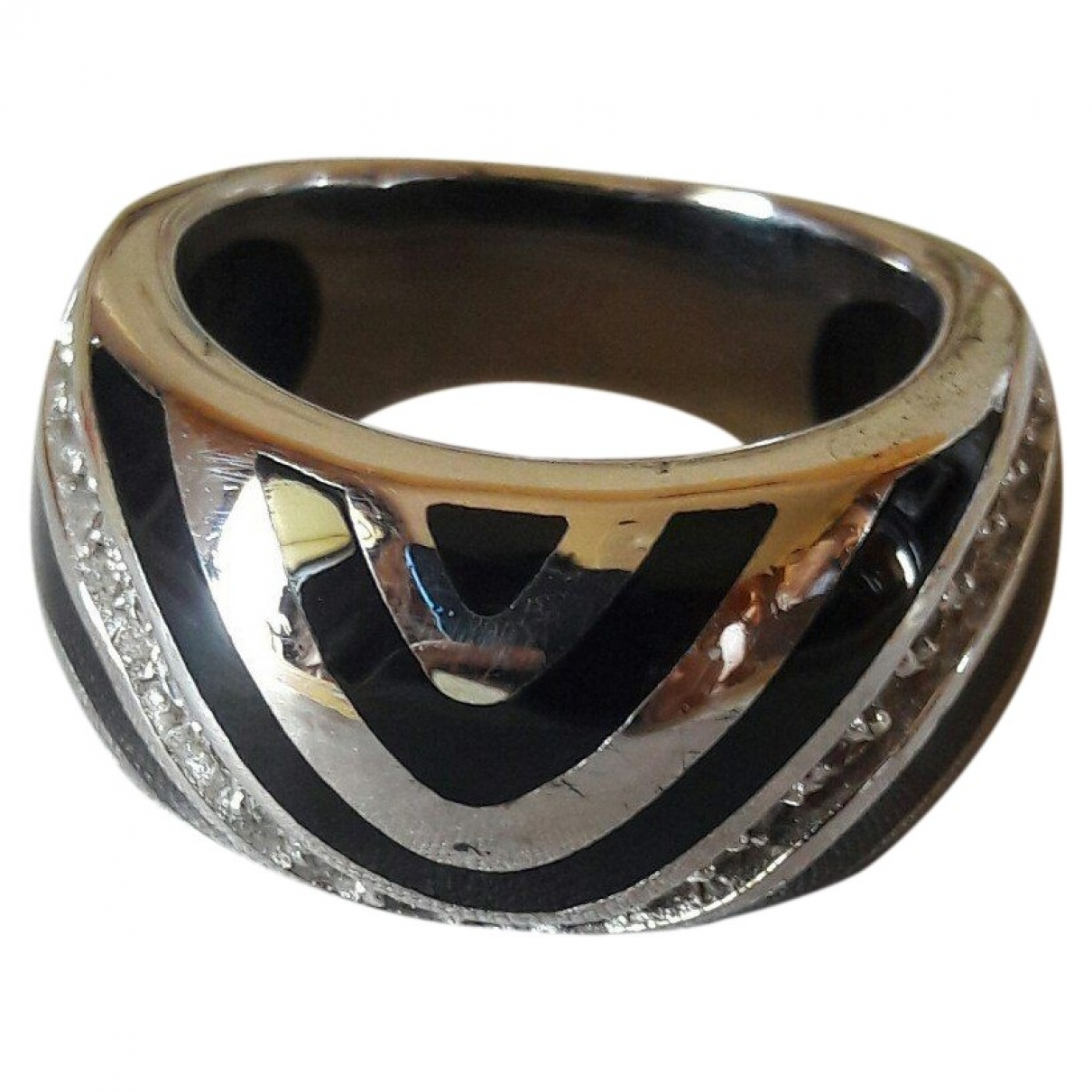 Non Signé / Unsigned \N Silver Metal ring for Women \N