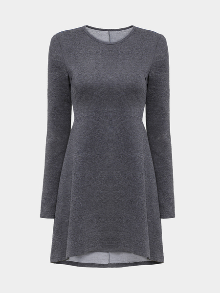 Yoins Swing Dress with Long Sleeves and Seam