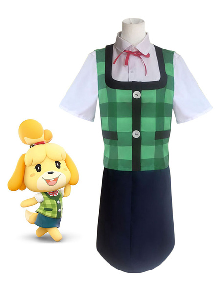 Milanoo Animal Crossing Isabelle Cosplay Costume Outfit