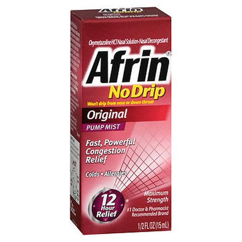 Afrin No Drip Pump Mist Original 0.5 Oz by Afrin