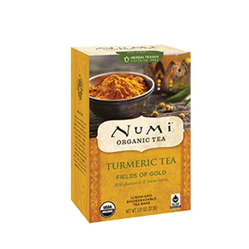 Turmeric Tea Fields of Gold 12 Bags by Numi Tea