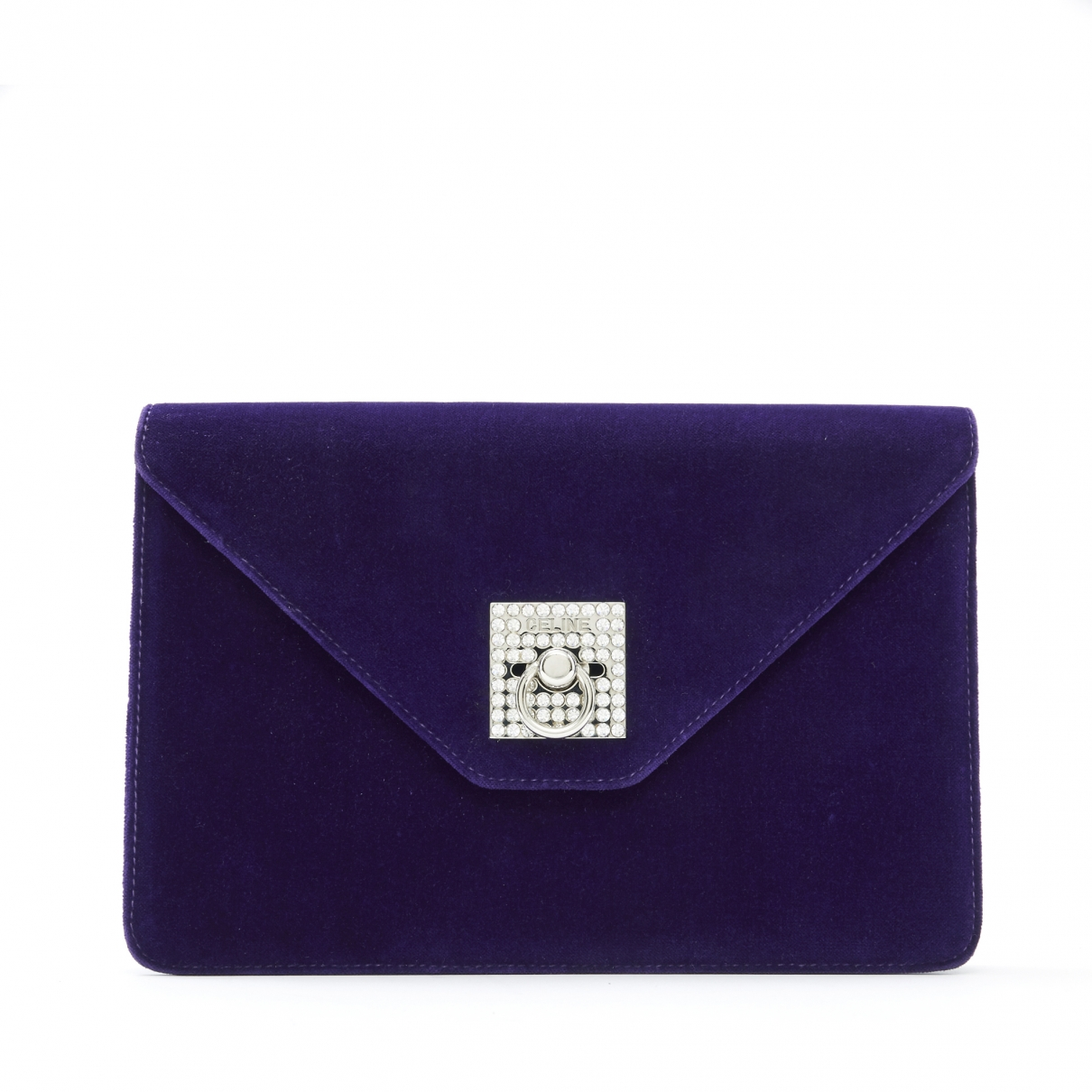 Celine \N Purple Velvet Clutch bag for Women \N