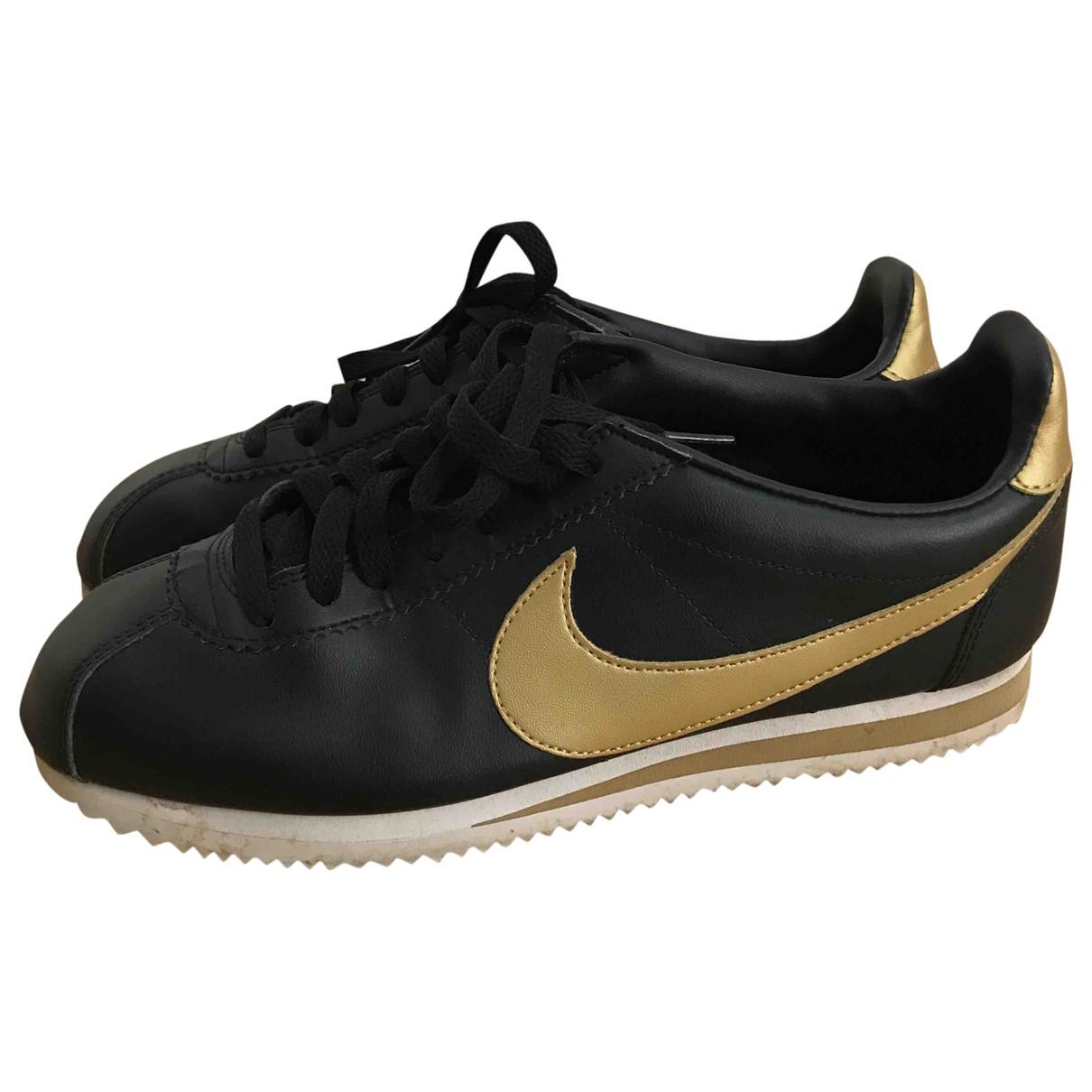 Nike Cortez Black Leather Trainers for Women 41 EU