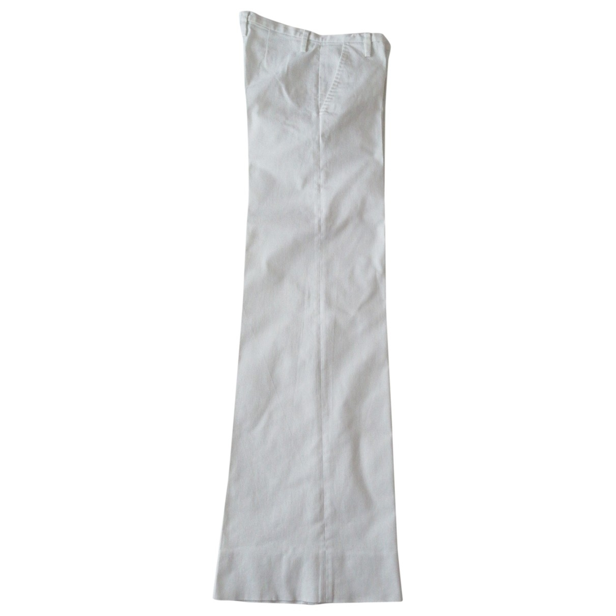 Dolce & Gabbana \N White Cotton Trousers for Women 42 IT