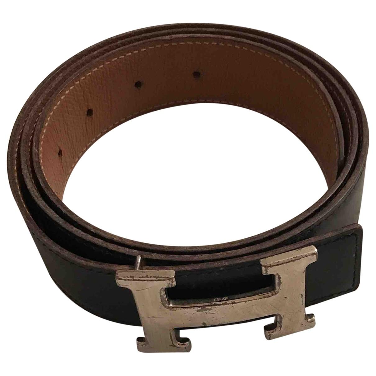 Hermès H Black Leather belt for Women 90 cm