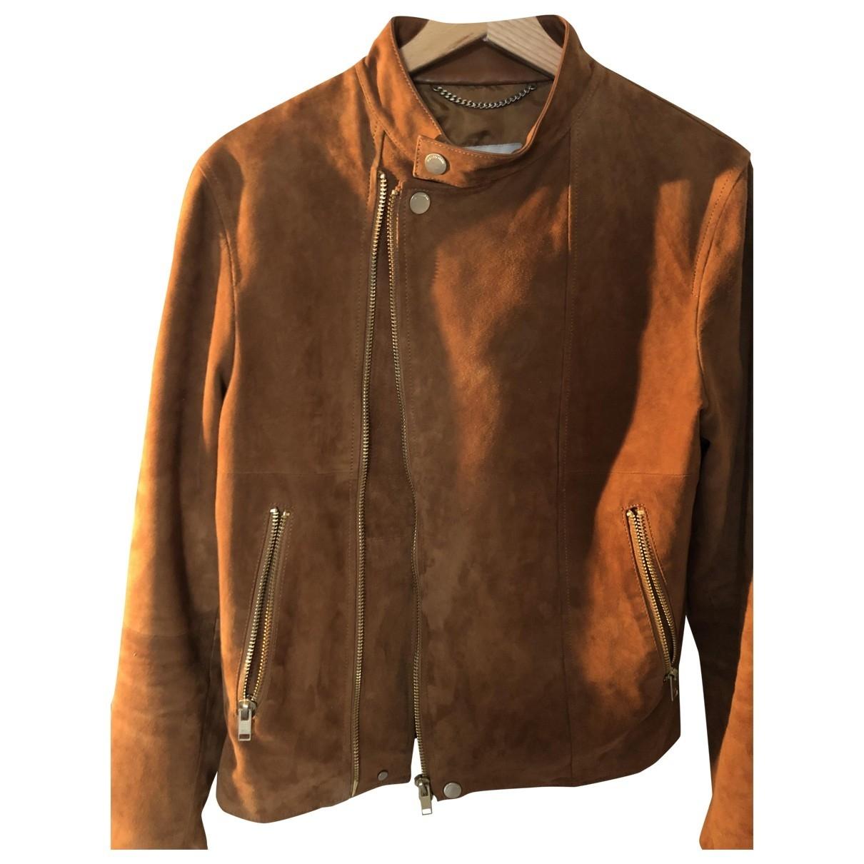 Mango \N Brown Leather jacket  for Men S International