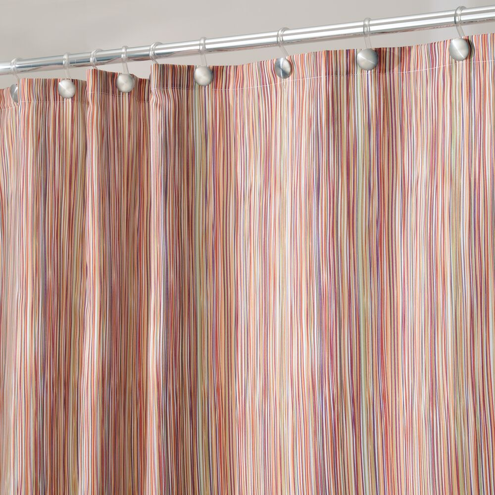 mDesign Decorative Print Fabric Shower Curtain in Earthtone, 72