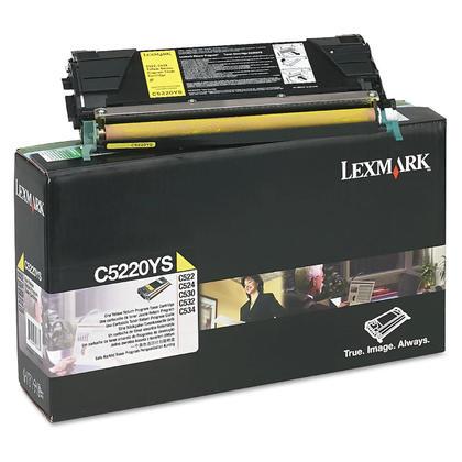 Lexmark C5220YS cartouche de toner du programme retour originale jaune