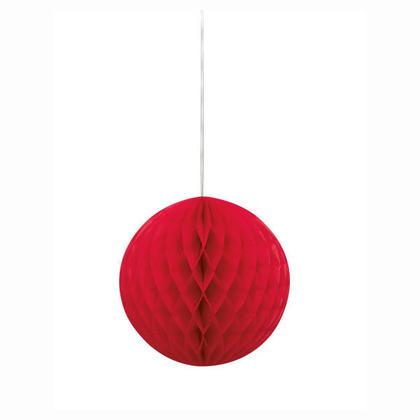 Boule de papier Pour Décoration de fête 8'' - rouge