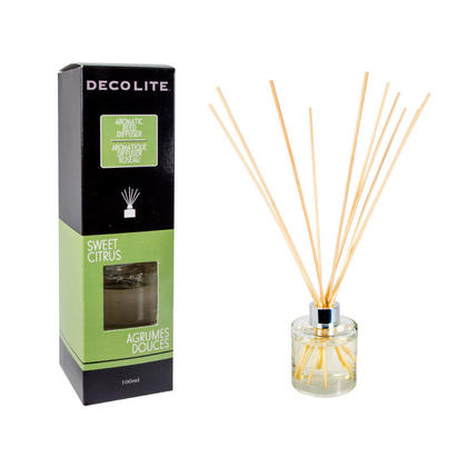 Scented Reed Diffuser, For Aromatherapy,Home Air Freshener 100ml Sweet Citrus