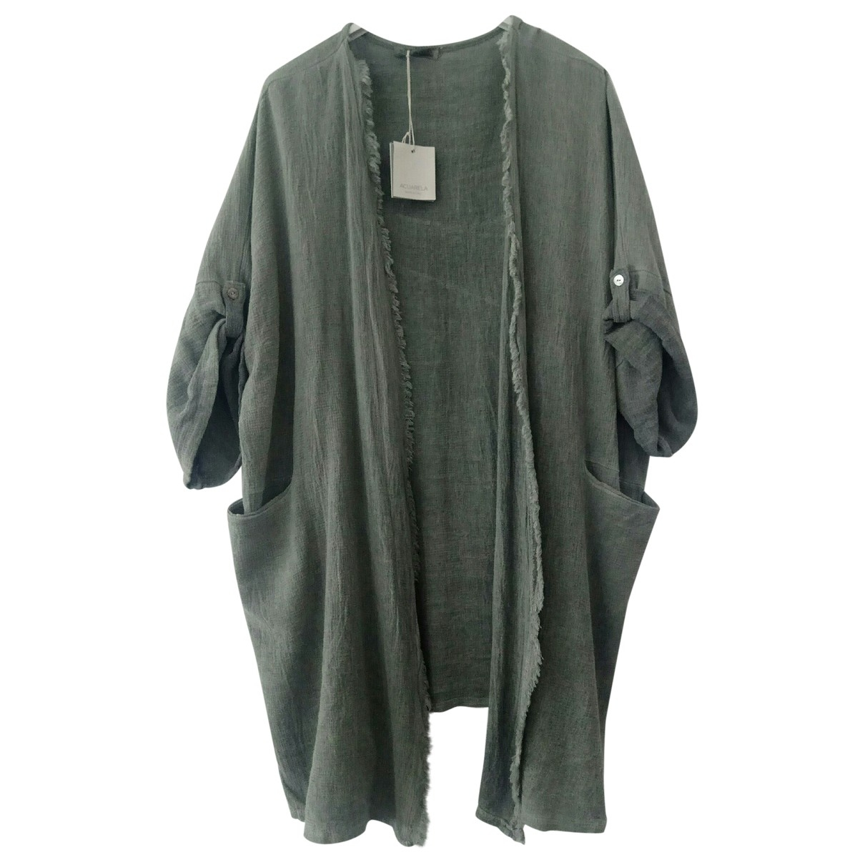 Non Signé / Unsigned \N Green Linen jacket for Women One Size FR