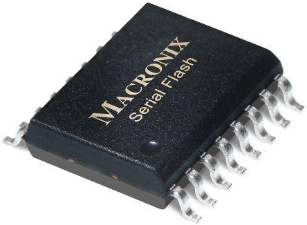Macronix MX25L12835FMI-10G NOR 128Mbit Flash Memory, 16-Pin SOP (5)