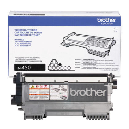 Brother TN450 cartouche de toner noire à haut rendement - produit original de Brother