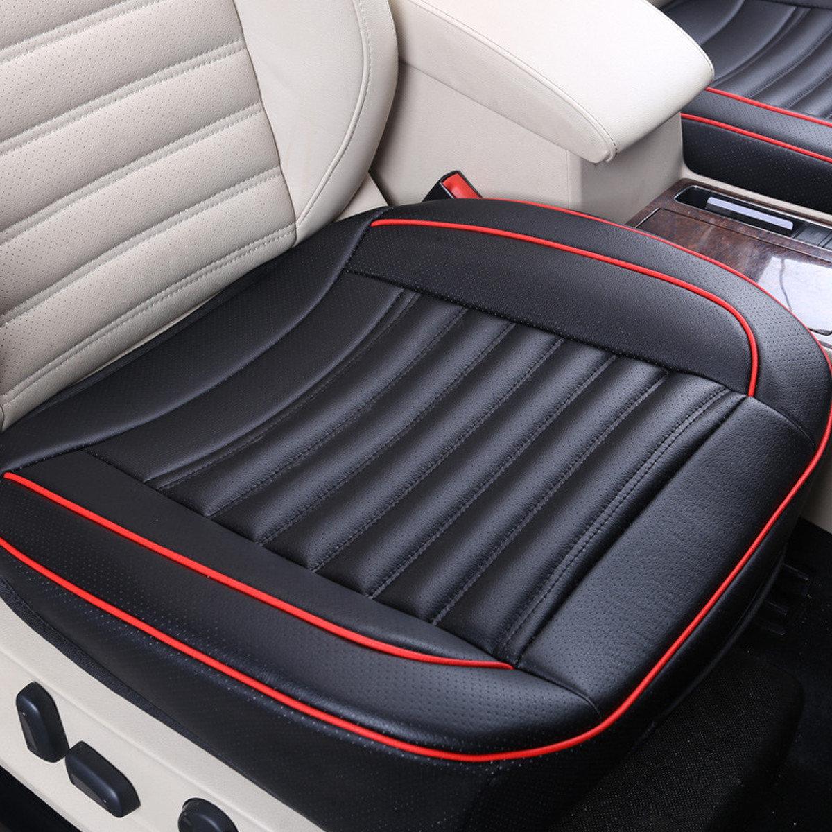 50x50cm PU Leather Buckwhear Shell Filling Car Cushion Chair Car Seat Cover Auto Interior Pad Mat