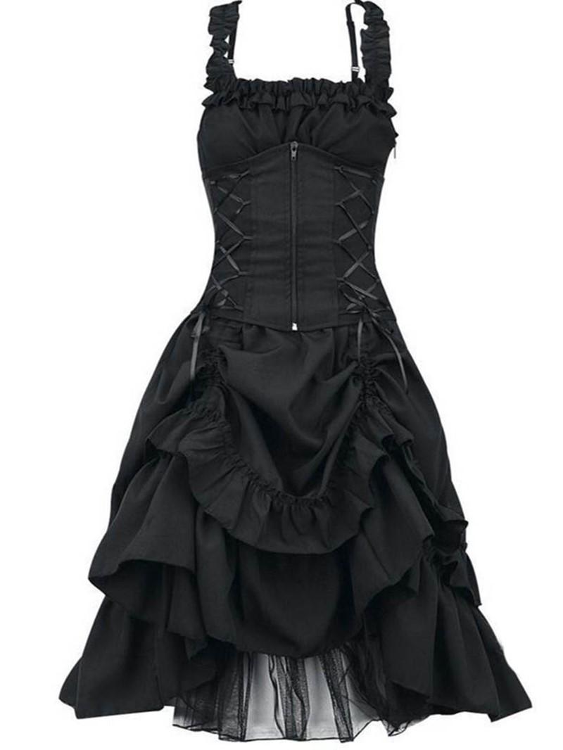Ericdress Knee-Length Pleated Sleeveless Pullover Halloween Costume Dress