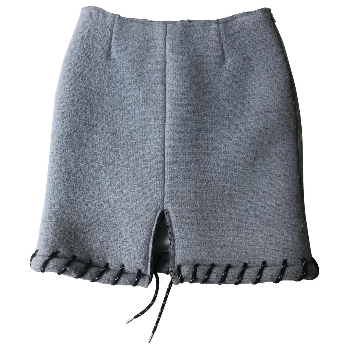 Acne Studios \N Blue Wool skirt for Women 34 FR