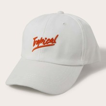 Letter Embroidered Baseball Cap