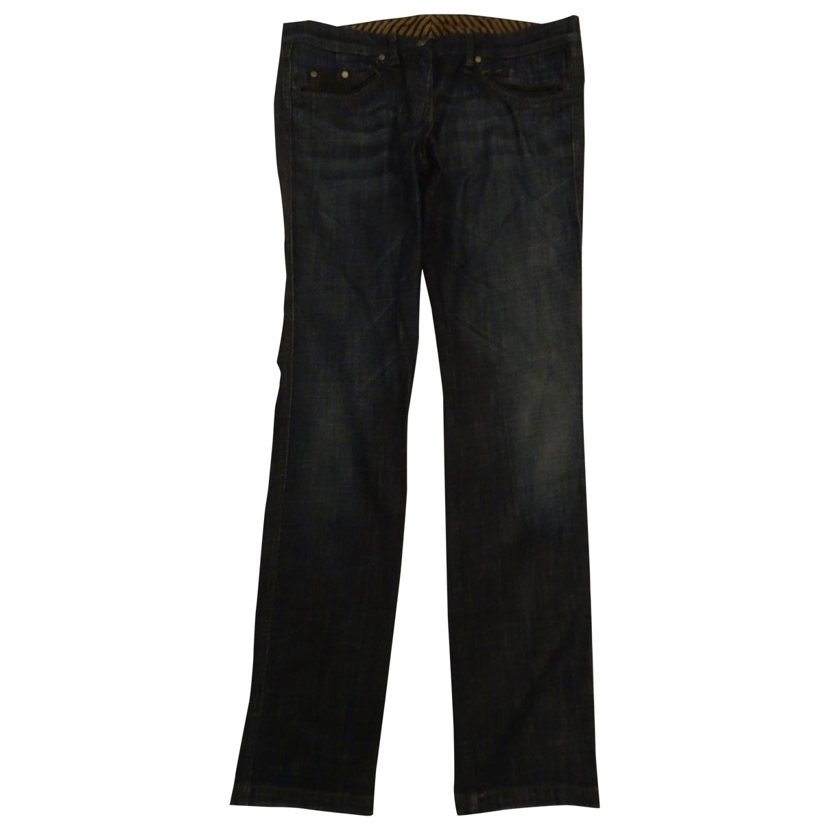 Faconnable \N Blue Cotton - elasthane Jeans for Women 33 US