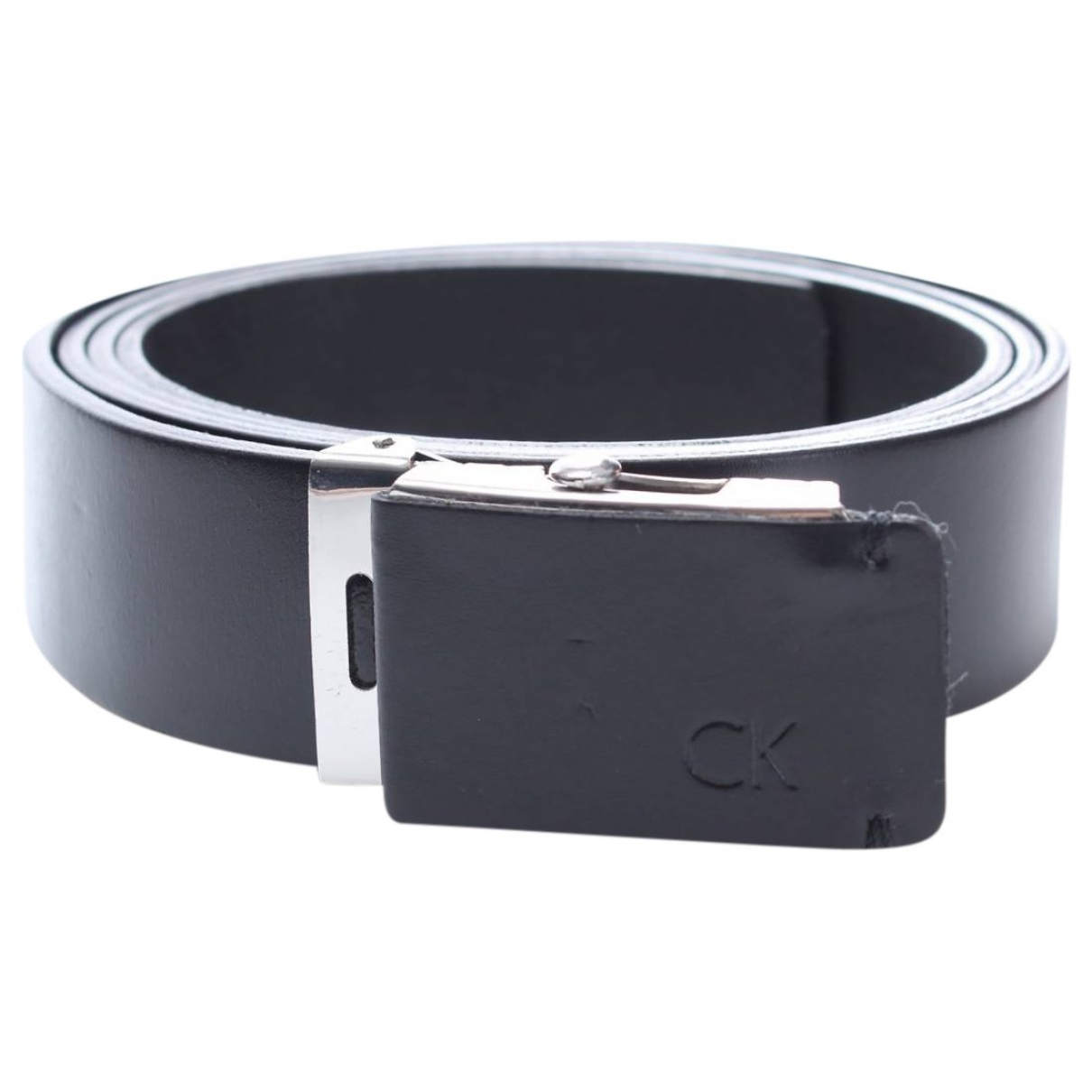 Calvin Klein \N Black Leather belt for Men 100 cm