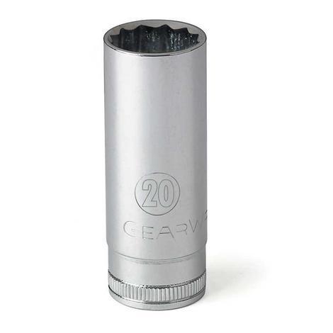 GearWrench Socket, 1/2 In. Drive 12 Point Deep, 17mm