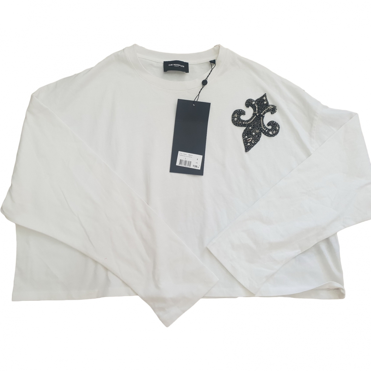 The Kooples \N White Cotton  top for Women 38 FR