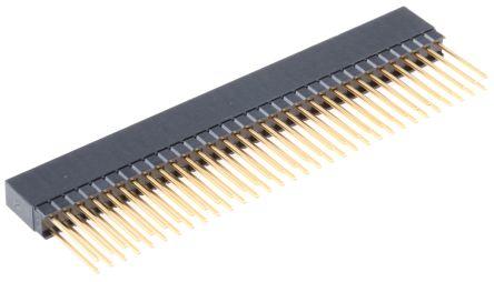 HARWIN 2.54mm Pitch 64 Way 2 Row Straight PCB Socket, Through Hole, Solder Termination (7)