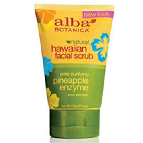 Hawaiian Pineapple Enzyme Facial Scrub 4 oz by Alba Botanica