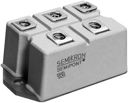 Semikron SKB 52/16, Bridge Rectifier Module, 1600V, 7-Pin A 46