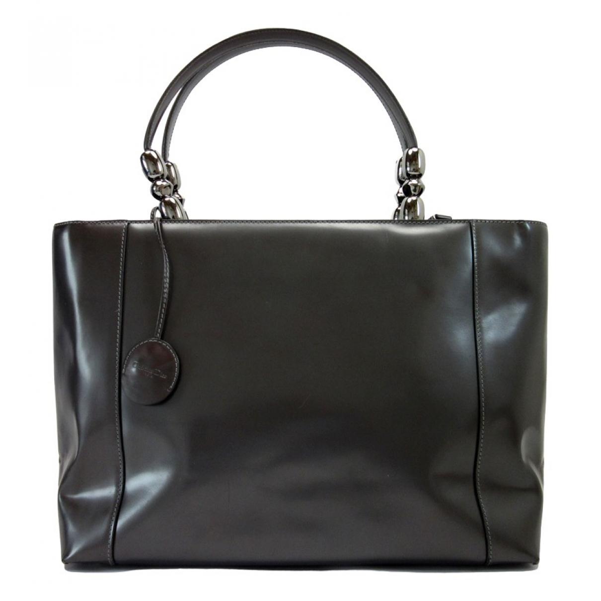 Dior \N Grey Leather handbag for Women \N