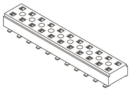 Samtec , CLT 2mm Pitch 40 Way 2 Row Straight PCB Socket, Surface Mount, Solder Termination