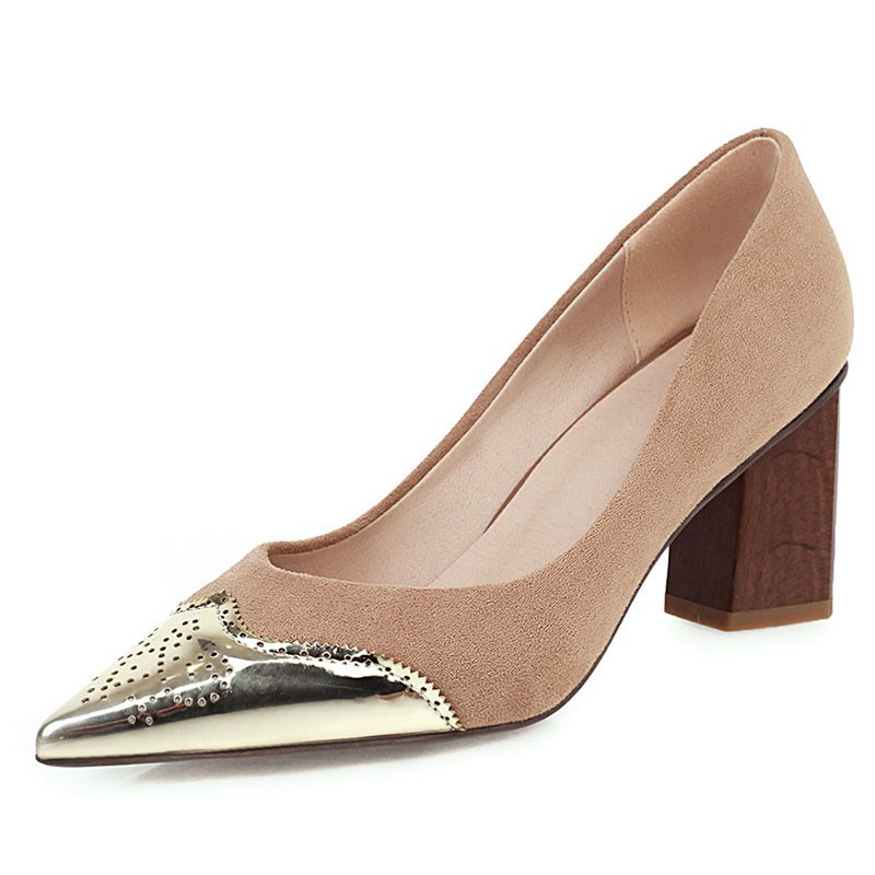 Ericdress Slip-On Pointed Toe Thread Low-Cut Upper Pumps