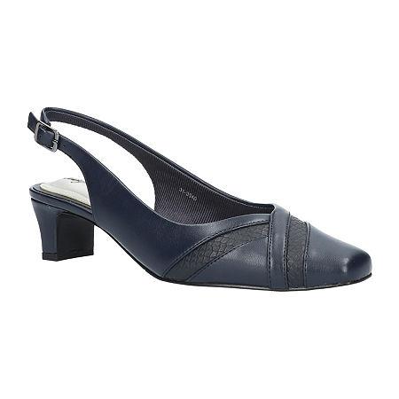 Easy Street Womens Ginny Pumps Spike Heel, 9 1/2 Wide, Blue