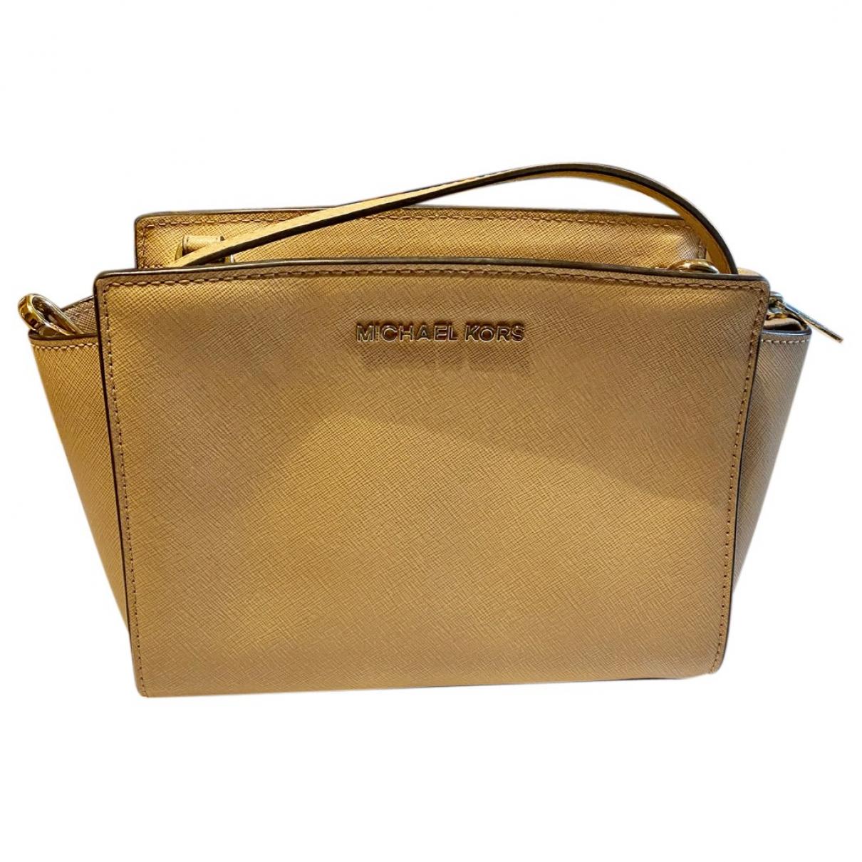 Michael Kors Selma Beige Leather handbag for Women \N
