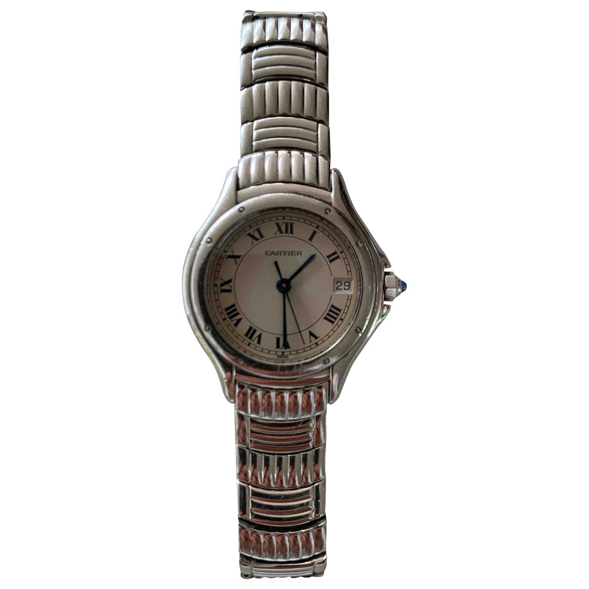 Cartier Cougar Silver Steel watch for Women \N