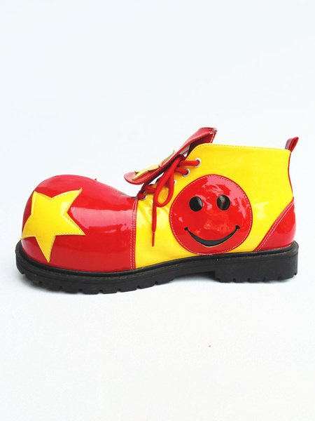 Milanoo Circus Clown Shoes Jumbo Colorful Footwear