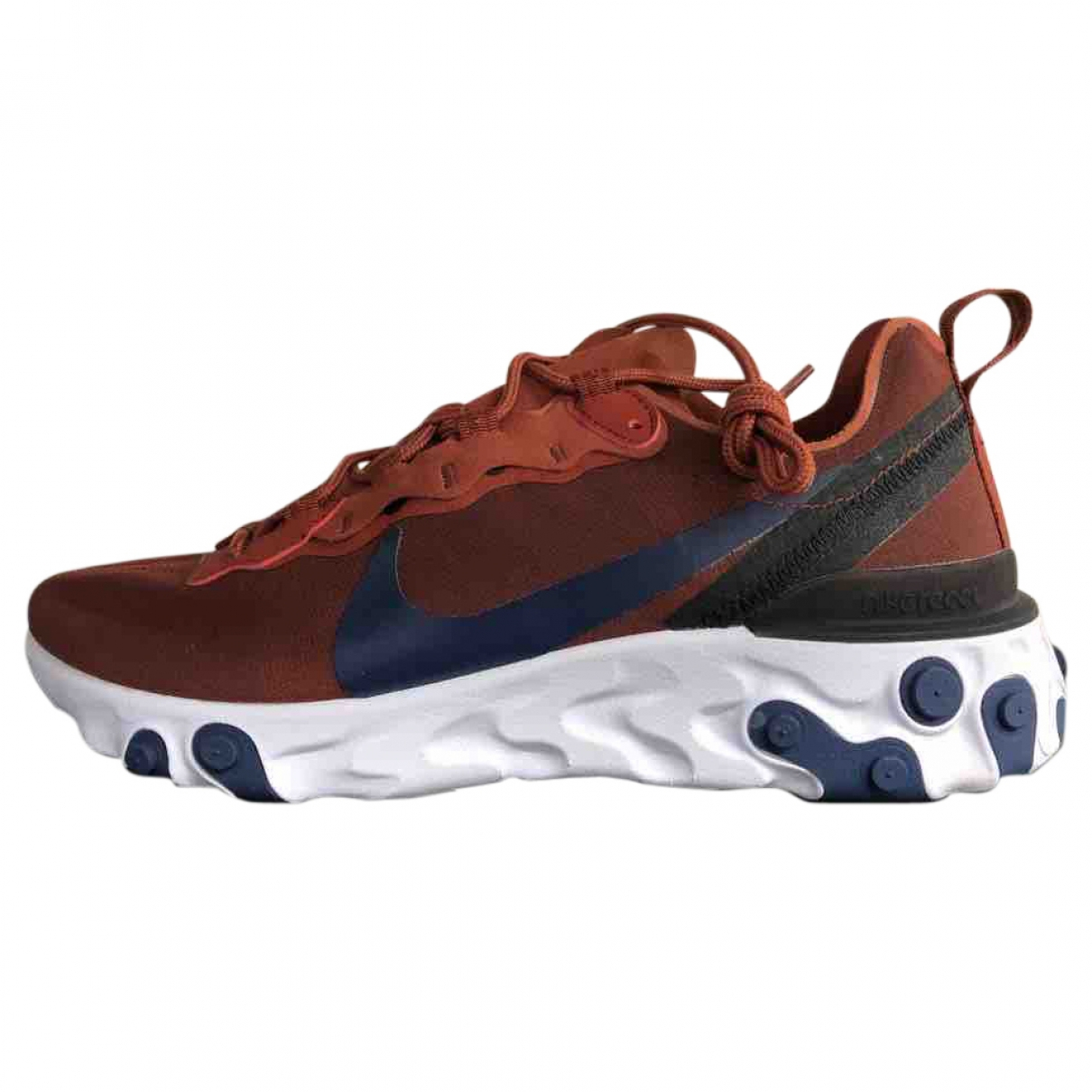 Nike React element 55 Red Cloth Trainers for Men 7.5 UK