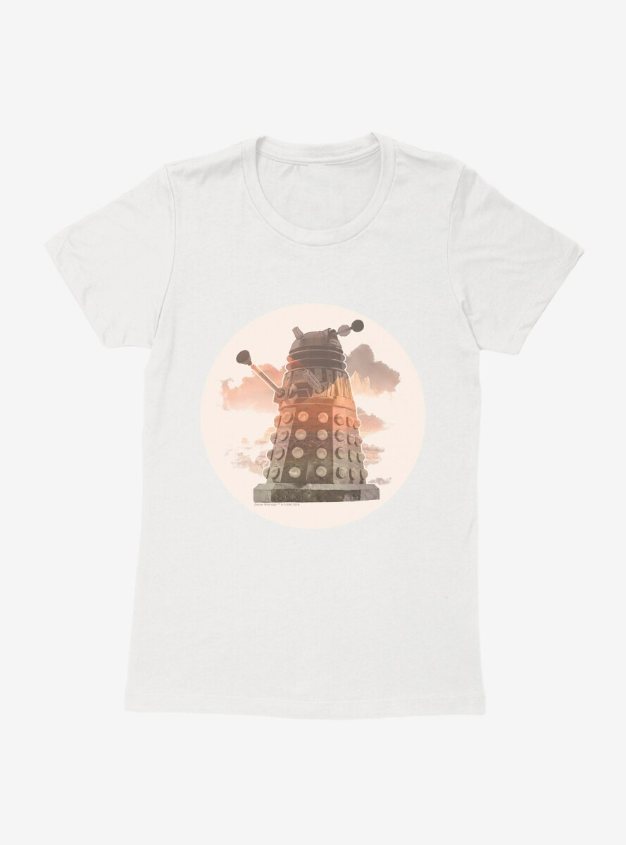 Doctor Who Dalek In The Clouds Womens T-Shirt